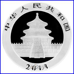 1 Set 2010-2019 30g 40mm China Panda 10 Yuan(1 oz) Silver Coin With Box