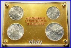 1965 China / Taiwan 100th Centennial Birthday of Sun Yat-Sen Silver 4 Coin Set