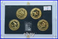 1980 China Olympic coin copper set 4 coins