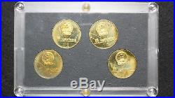 1980 Lake Placid XIII Olympic Winter Games Commemorative 4-Coin China Proof Set