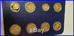 1980 Olympic Coins Jinhuang Copper Proof Set Lake Placid in Folder