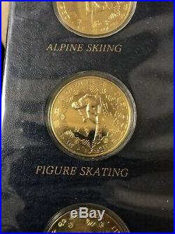 1980 Olympic Coins Of China-rare Jinhuang 8 Coin Copper Proof Set