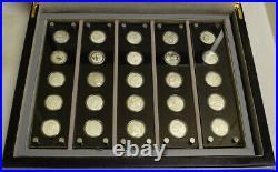 1982-1997 25th Ann China Panda. 999 Silver Proof 25 Coin Set, 1/4 Oz Coins, Ogp