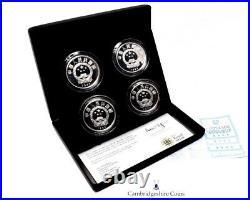 1984 Fine Silver Proof China Terracotta Army 4 Coin Set Box COA Royal Mint