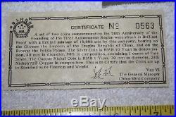 1985 Tibet 2 coin proof set with COA #0563 20th Anniversary Tibetan Autonomy