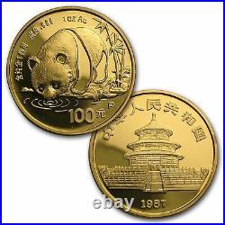 1987 China 5-Coin Gold. 999 Panda Proof Set (In Original Box)