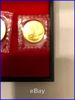 1987 S 1.9oz Chinese Gold Panda 5-Coin Proof Set (Sealed) In Original Packages
