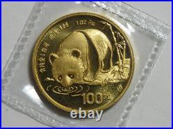 1987-S China Gold Panda Set 5 Coin BU Sealed 1/20 1/10 1/4 1/2 & 1 oz 999