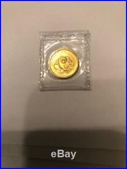 1988 P 1.9 oz Chinese Gold Panda 5-Coin Proof Set (Sealed) In Original Packages