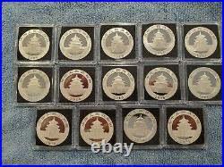 1989-2021 Complete 1 oz. China Silver Panda SET 34 coins BU or Better LOOK
