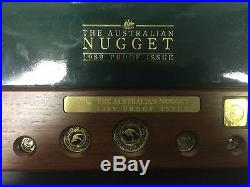 1989 Australia Gold Nugget 5 Coin Proof Gold Set (2.1 oz.) + Gold Medallion
