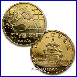 1989 China 5-Coin Gold Panda Proof Set (In Original Box)