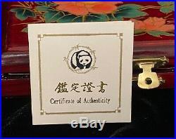 1990 China 3 Coin Platinum Panda Proof Set with OGP & COA
