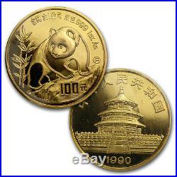 1990 China 5-Coin Gold Panda Proof Set (withBox & COA) SKU #14599