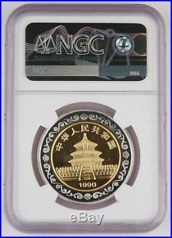 1990 China PROOF BI-METALLIC 1/2 Oz Gold Panda Coin & Medal Set NGC PF69 Bimetal