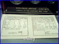 1990 Panda Platinum 0.5, 0.25 and 0.1 Oz 3 Coin Set WithCOA, NO BOX