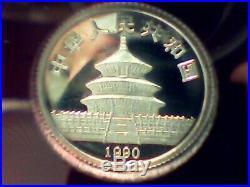 1990 Panda Platinum 0.5, 0.25 and 0.1 Oz 3 Coin Set WithCOA, NO BOX newithunc