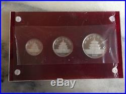 1990 Platinum Panda 3 Coin Proof Set