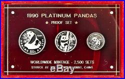 1990 Platinum Panda Proof Set