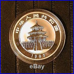 1993 China 3-Coin Panda Set 5Y Copr, 10Y Slvr, 10Y Lrg Date Slvr Prf-PRICE REDUCED