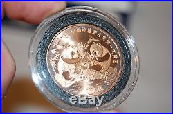 1993 China PANDA PROOF S10Y + BU S10Y + COPPER 5Y coin set OGP silver