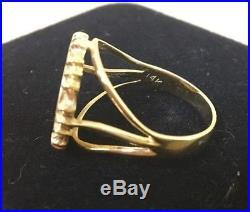 1994 1/20 oz China Chinese Panda Gold Coin Ring set in 14K Gold Size 9