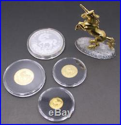 1994 China 4-coin Unicorn Proof Set (withBox, COA, Figurine, and Legend Book)