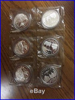 1997 China Sino-Thailand Friendship 1 oz Silver Coin Set Of 6
