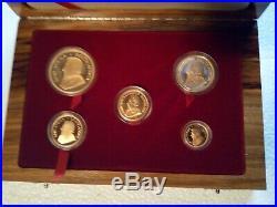 1999 Krugerrand Gold Proof Century Edition 5 Coin Set Edition Limit 500 Sets