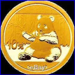 2 Goldmünzen China Panda 2017 Set 1 g und 3 g (Feingold 4 g)
