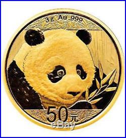 2 Goldmünzen China Panda 2018 Set 1 g und 3 g (Feingold 4 g)