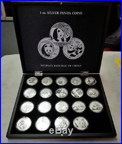 2000 2018 China Panda Set. 999 Silver 10 Yuan Coins MA152