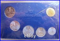 2000 China 6 Coins Mint Set In Original Case