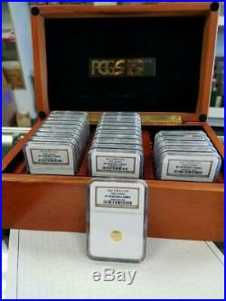 2007 China 25 Coin Gold Panda Proof NGC PF70 Ultra Cameo 25th Anniversary Set
