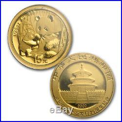 2007 China 25-Coin Gold Panda Proof Set (25th Anniv) SKU #23865