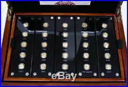 2007 China Gold Panda 25th Anniversary 25 coin set Rare New Condition