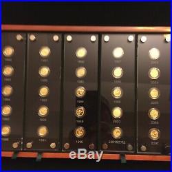 2007 China Panda 25th Anniversary Set of 15Yuan Gold 25 Coins SET
