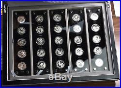 2007 Silver 1/4 oz. 999 Panda 25 Coin Set AS IS