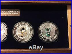 2008 Beijing Olympic Games Mascots Collection Silver Proof Coin Boxed 1 oz Set