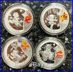 2008 Bejing Olympic Silver 4 coin Puzzle set