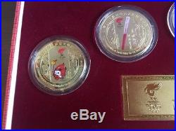 2008 Ltd. Ed Beijing Olympic Games Mascot Gold Coins Commemorative Medallion Set