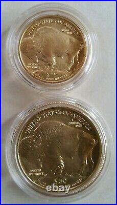 2008-W Gold Buffalo Four Coin Uncirculated Set with Box and COA