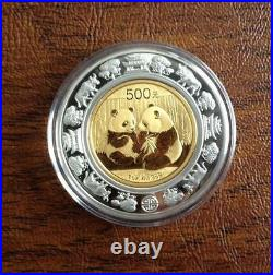 2009 China Panda Lunar Prestige 4 Gold/Silver Coins Set Year of the Ox 1000Limit
