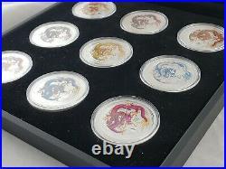 2012 Australia Lunar Series year of the Dragon Silver Coin Set + COA (RARE)