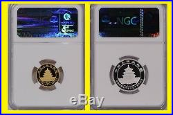 2012 China Issuance of Gold Panda, 2 Coin Set, G50Y & S3Y, NGC PF 70 Ultra Cameo