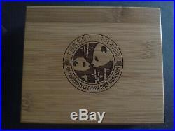 2013 China 2-Piece Silver 30th Anniversary of Panda Coin/Bar Set (3 oz)