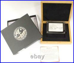 2013 China Panda. 999 Fine Silver 3oz Proof Coin Bar 30th Anniversary Set