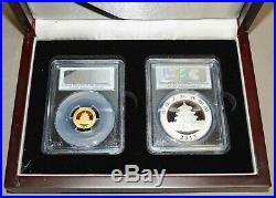 2013 China Panda Set Gold 50 Yn Silver 10 Yn MS70 First Strike PCGS