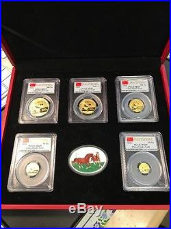 2014 Prestige panda First Strike 6 coin set 1.9oz pure gold