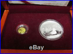 2015 China Gold & Silver Commemorative Panda Coins Set Bank of Shanghai